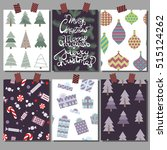 vector christmas illustration.... | Shutterstock .eps vector #515124262