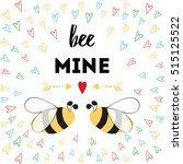love quote be mine. st....   Shutterstock .eps vector #515125522