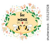 love quote be mine. st.... | Shutterstock .eps vector #515125528