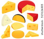 various types of cheese. vector ...