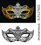 golden carnival mask ...   Shutterstock .eps vector #515127832