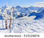 ski equipment with amazing... | Shutterstock . vector #515128876