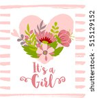 vector greeting card  baby... | Shutterstock .eps vector #515129152