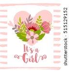 vector greeting card  baby...   Shutterstock .eps vector #515129152