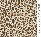 seamless leopard pattern.... | Shutterstock .eps vector #515142232