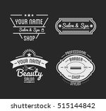 set of vintage barber shop logo ... | Shutterstock .eps vector #515144842
