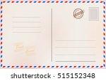 vintage postcard. vector design ... | Shutterstock .eps vector #515152348