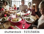family together christmas... | Shutterstock . vector #515156836