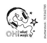 earphones monochrome... | Shutterstock .eps vector #515162785
