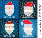 Set Of New Year Greeting Card...