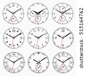 clock watch collection. set of... | Shutterstock .eps vector #515164762
