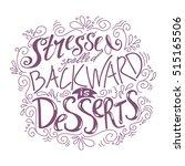 hand drawn lettering poster.... | Shutterstock .eps vector #515165506