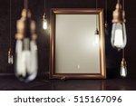 3d render mockup loft scene... | Shutterstock . vector #515167096