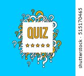 quiz test vector background... | Shutterstock .eps vector #515170465