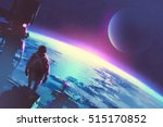 sci fi concept of the man... | Shutterstock . vector #515170852