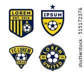 football logo badge isolated in ... | Shutterstock .eps vector #515172376