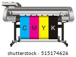 large format ink jet printer  | Shutterstock . vector #515174626