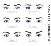 6 basic eyebrow shape types.... | Shutterstock .eps vector #515174902