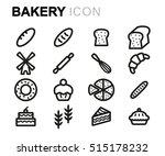 vector line bakery icons set on ...   Shutterstock .eps vector #515178232