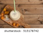 smoothie with banana  mango ... | Shutterstock . vector #515178742