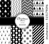 collection of seamless patterns ... | Shutterstock .eps vector #515179096