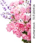Stock photo roses bouquet branch of pink roses isolated 515183416
