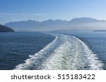 wake of a ferry near vancouver... | Shutterstock . vector #515183422