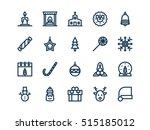 christmas colorless outline... | Shutterstock .eps vector #515185012