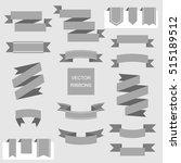 ribbon vector icon set. banner...   Shutterstock .eps vector #515189512
