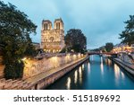 panoramic view of notre dame in ... | Shutterstock . vector #515189692