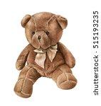 Cute Watercolor Teddy Bear...
