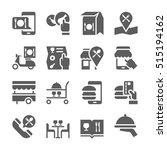restaurant food ordering on... | Shutterstock .eps vector #515194162