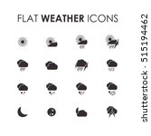 weather icons on white... | Shutterstock .eps vector #515194462