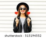 fashion pretty sweet young... | Shutterstock . vector #515194552
