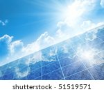 a photography of a solar panel... | Shutterstock . vector #51519571