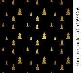 seamless pattern of gold... | Shutterstock .eps vector #515197456