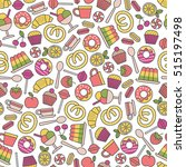 seamless pattern with sweets...   Shutterstock .eps vector #515197498