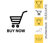 shopping cart  buy now  icon | Shutterstock .eps vector #515211472