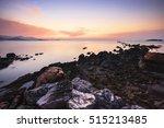 coral rock beach at sunset koh... | Shutterstock . vector #515213485