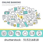 online banking concept... | Shutterstock .eps vector #515216818
