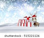3d render of a reindeer and... | Shutterstock . vector #515221126