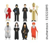 religion representatives set.... | Shutterstock .eps vector #515223895