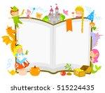 characters of fairytales around ... | Shutterstock . vector #515224435