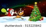 magic christmas eve banner  ... | Shutterstock .eps vector #515225842