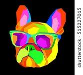 french bulldog. print on... | Shutterstock .eps vector #515227015