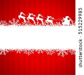 winter background with santa... | Shutterstock .eps vector #515229985