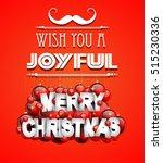merry christmas background for... | Shutterstock .eps vector #515230336
