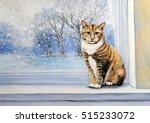 paintings  watercolor.cat ... | Shutterstock . vector #515233072
