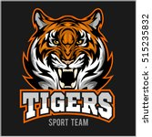 vector angry tiger face sport... | Shutterstock .eps vector #515235832