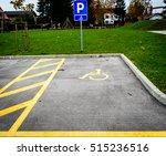 Wheelchair Symbol In A Parking...